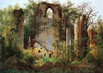 Eldena Ruin CDF Romantic Caspar David Friedrich Oil Paintings